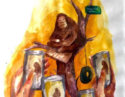 Exhibition - art for orang utan