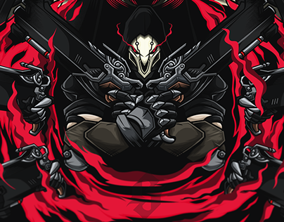 Death Blossom | Reaper | Overwatch | Fan Art