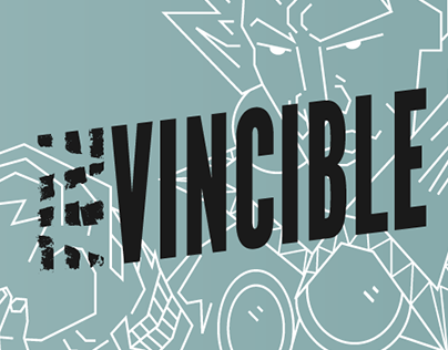 Invincible - Typographic Comic Book