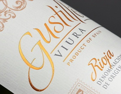 "Label design for Spanish wines ""Gustillo"""
