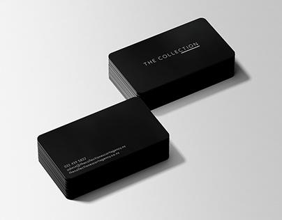 Matt Black Metal Business Card Design