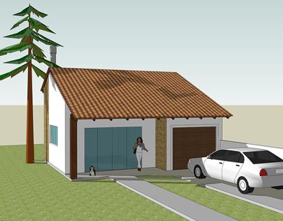 Projeto Arquitetônico Garagem/Salão de Festas