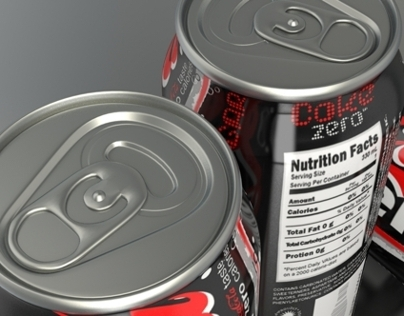 Coke Zero Can 3D