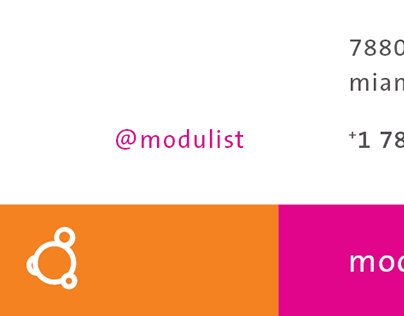 Modulist business cards