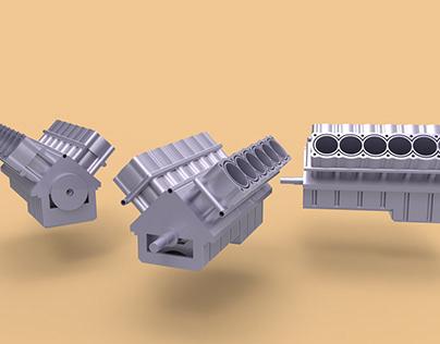 Motor 12v Modelagem 3D