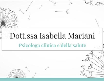 Isabella Mariani Psicologa