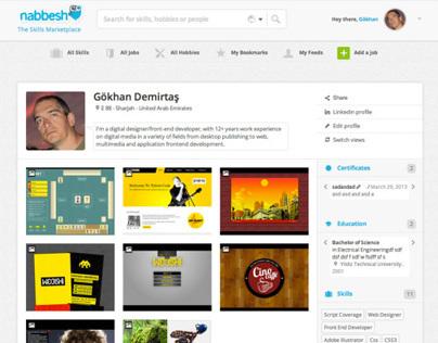 Nabbesh.com user profile designs