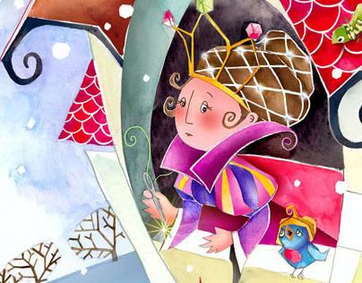 Illustrations form children' book ' Snowhite '