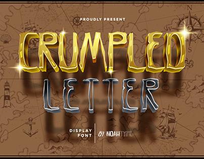 Crumpled Letter Font