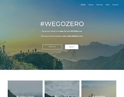 #WEGOZERO Website
