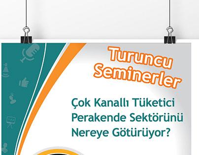 Teknosa - Turuncu Seminar Poster Design