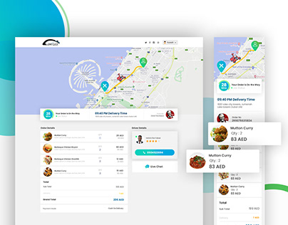 Delivery website and App