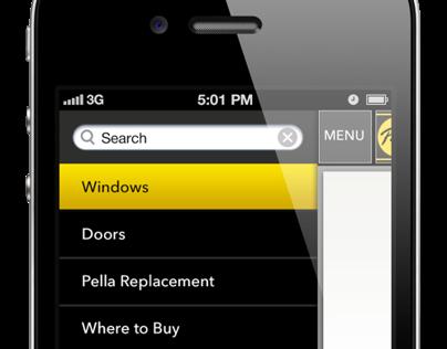 Pella Mobile Navigation