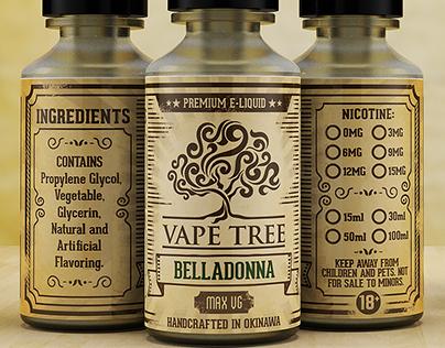 Vape Tree Label Design
