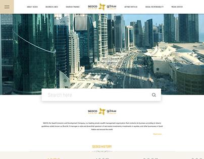 SEDCO-website redesign concept