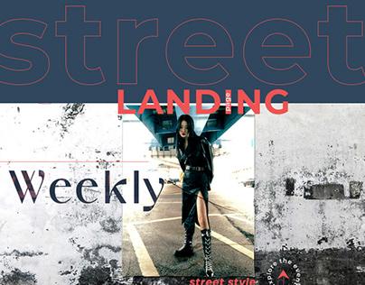 Asian Street Fashion Landing page