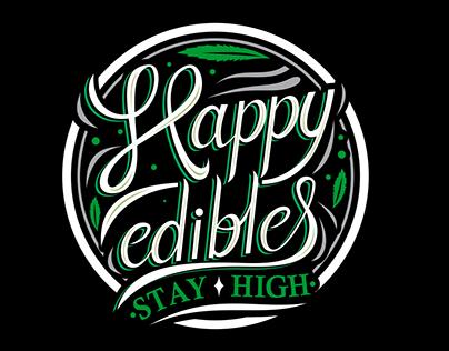 Happy edibles logo
