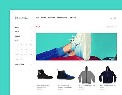 Del Toro Shoes online store re-design
