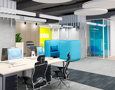 """Office design for """"Roland Berger"""" in BC """"Gulliver"""""""