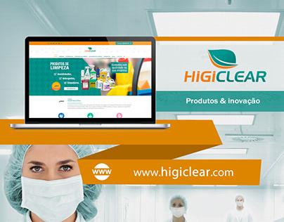 Web Design | Website Higiclear (Produtos e Inovação)