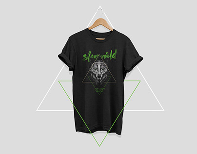 Stay Wild t-shirt series for Revole Brand