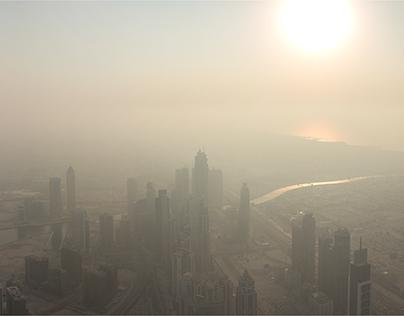Sunset Burj Khalifa (Time Laps)