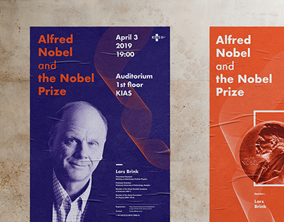 "Poster design for a speech ""Alfred Nobel and the Nobel"