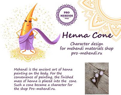 Character design for mehendi materials shop