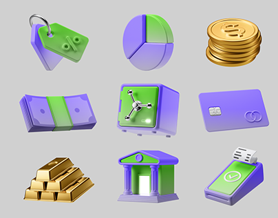 3D Icons Pack - Finance