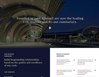 Cloisall Co website design