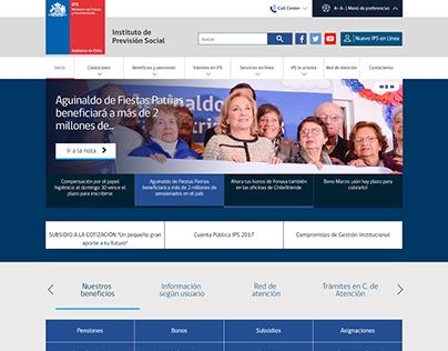 Sitio web Instituto de Previsión Social