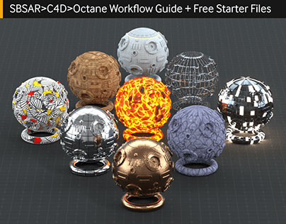 Substance Octane Workflow (C4D) + Free Starter Files