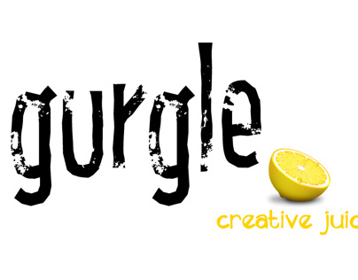 GURGLE (logo design for juice company)