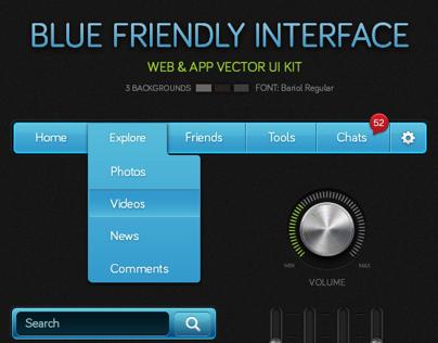 Blue Friendly Interface
