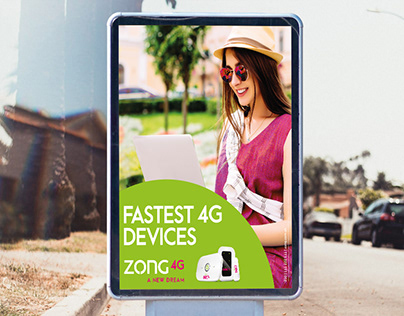 Poster Design | Fastest 4G Devices | Zong 4G