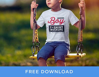 Boy T-Shirt Mockup - Freebie