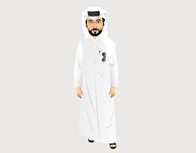 Saudi character drawing