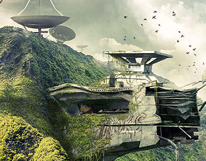 Matte Painting in Reunion Island