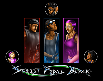 STREET PEDAL BLACK - #BlueInk Project Character Designs