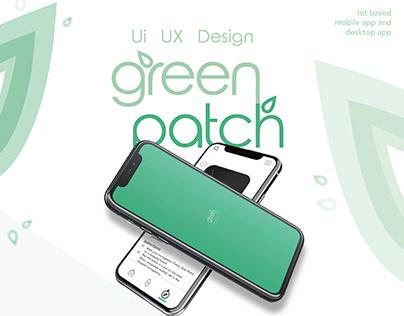 green patch - UI UX design