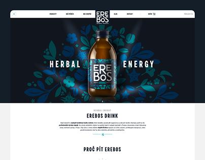 EREBOS DRINK — website redesign