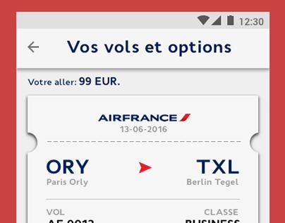 Air France - Mobile App Concept