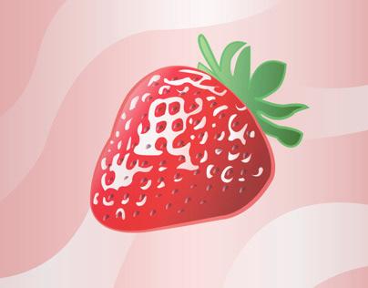 Strawberry Vector, created in Adobe Illustrator