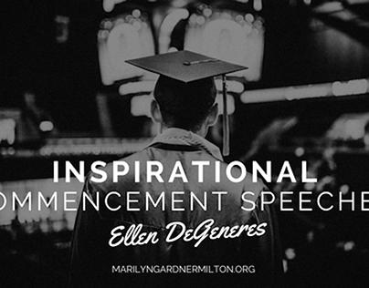 Inspirational Commencement Speeches: Ellen DeGeneres