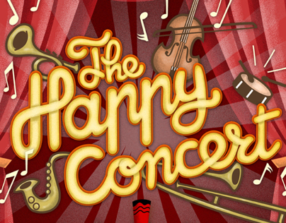 The Happy Concert. Cartel para concierto