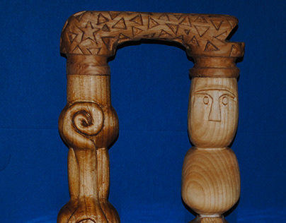 Hand Carved Totem