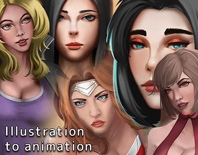 Illustration to animation