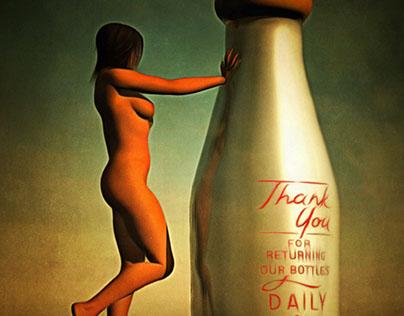 Bouteille de lait