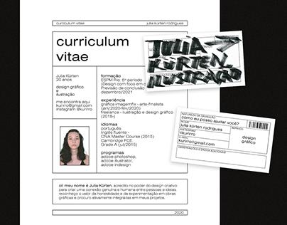 my CV + cards!