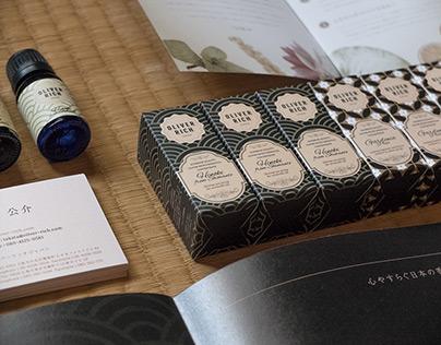 Oliver Rich aroma oils rebranding